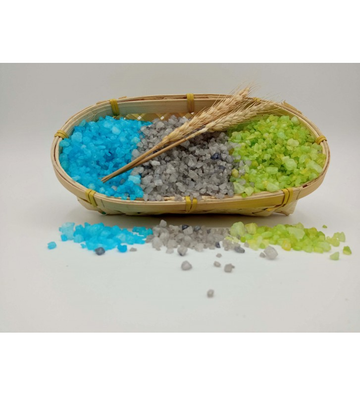 Sales de baño de iris, Barros del Mar Muerto y Aloe