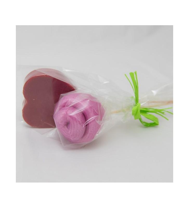 Corazón de Sandía más Flor de esponja